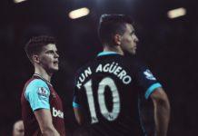 Sam Byram and Sergio Aguero West Ham Man City