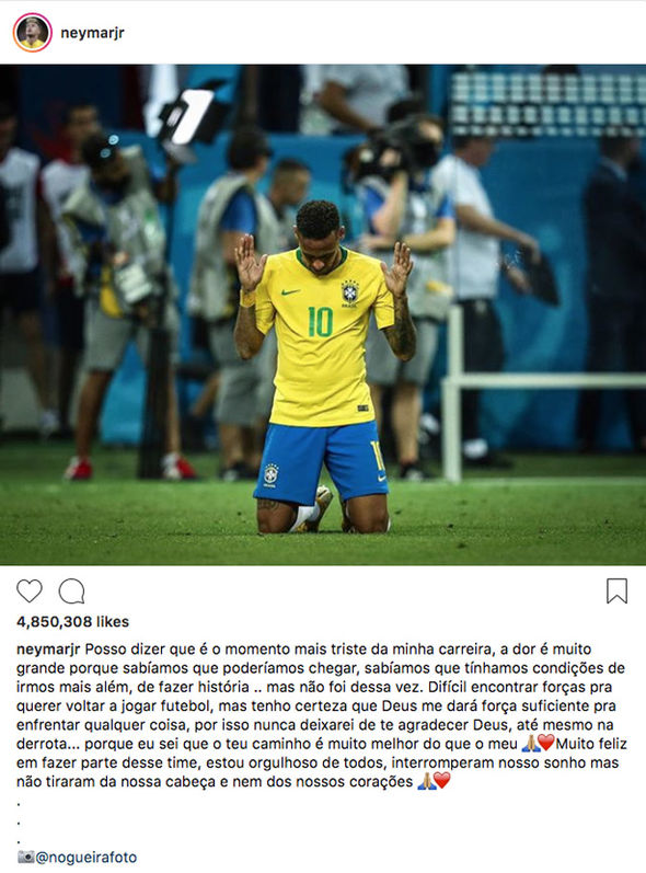 Neymar's Instagram photo