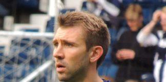 Gareth McAuley on Marko Arnautovic