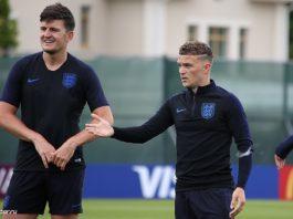 England vs Croatia Harry Maguire and Kieran Trippier