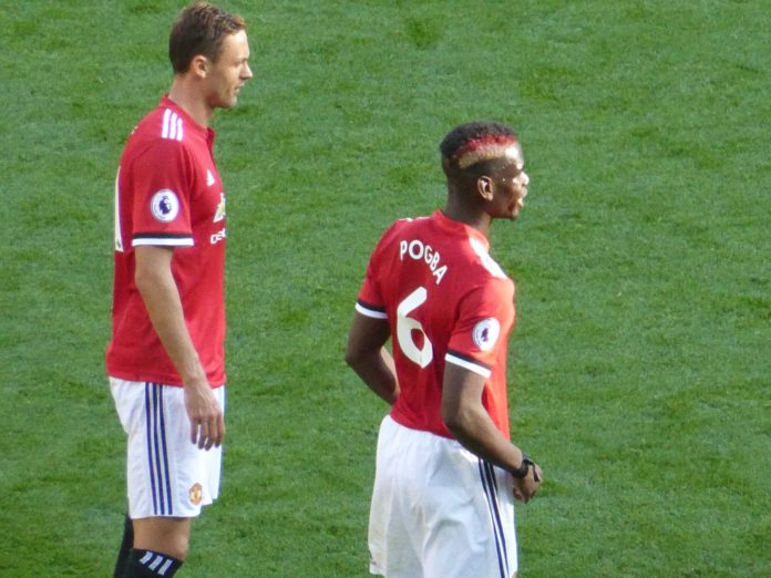 Paul Pogba and Nemanja Matic Man United