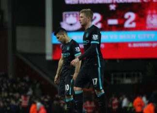 Sergio Aguero and Kevin De Bruyne Man City