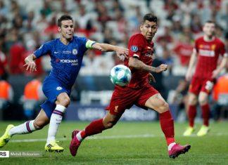 Liverpool & Chelsea Cesar Azpilicueta and Roberto Firmino