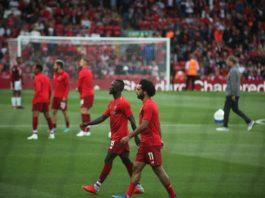 Naby Keita and Mo Salah Liverpool