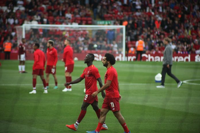 Naby Keita and Mo Salah Liverpool