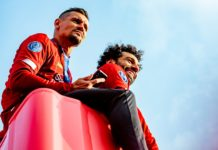 Dejan Lovren and Mo Salah Liverpool