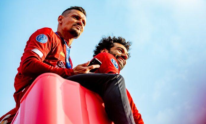 Dejan Lovren and Mo Salah Liverpool