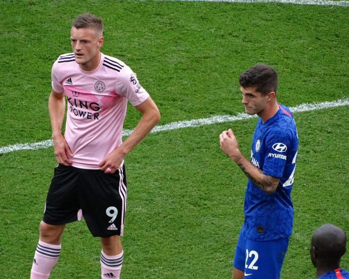 Premier League Christian Pulisic and Jamie Vardy Chelsea Leicester City