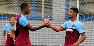 Issa Diop and Sebastien Haller West Ham United
