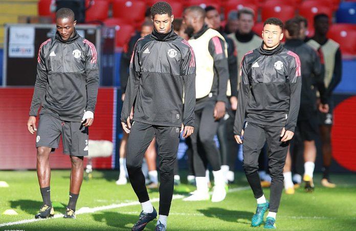 Man United Eric Bailly, Marcus Rashford & Jesse Lingard EPL