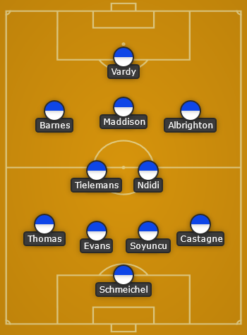 Leicester City predicted line up vs Man City